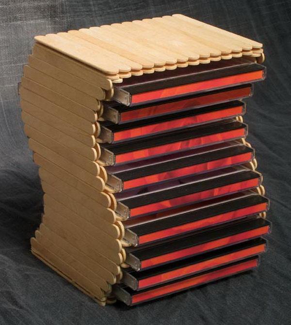 23 popsicle stick cd rack