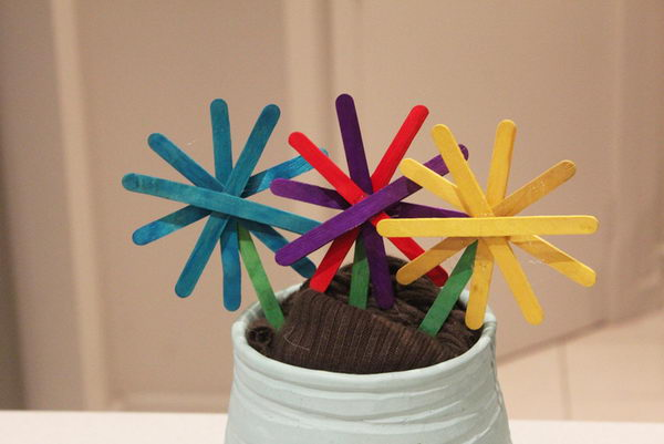 35 popsicle stick flowers