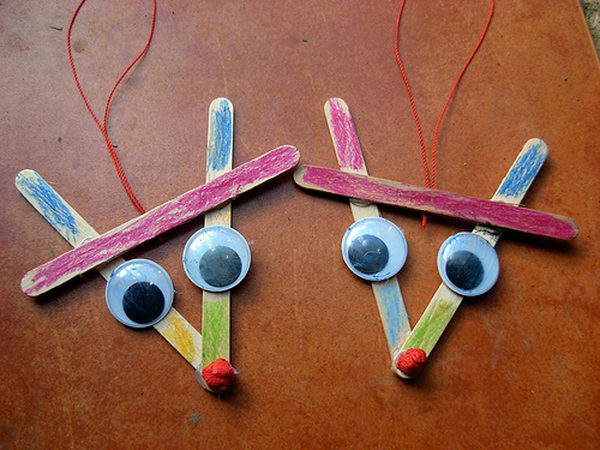 6 popsicle stick reindeer
