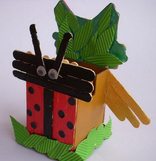 8 ladybird and owl craft