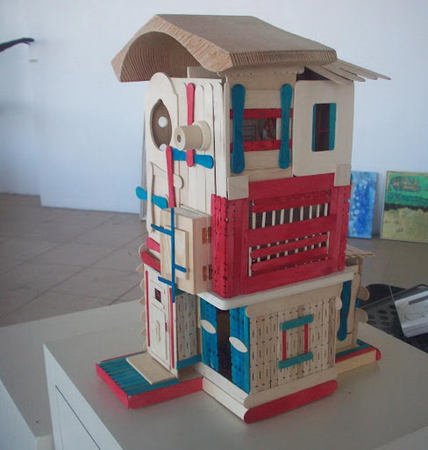 15 Homemade Popsicle Stick House Designs Hative