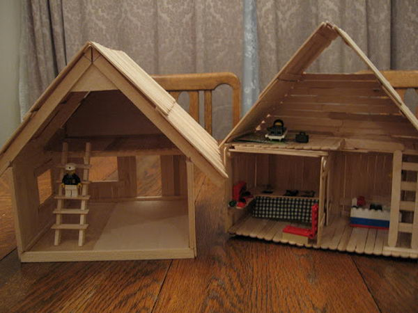 15 homemade popsicle stick house designs hative for Things to know when building a house