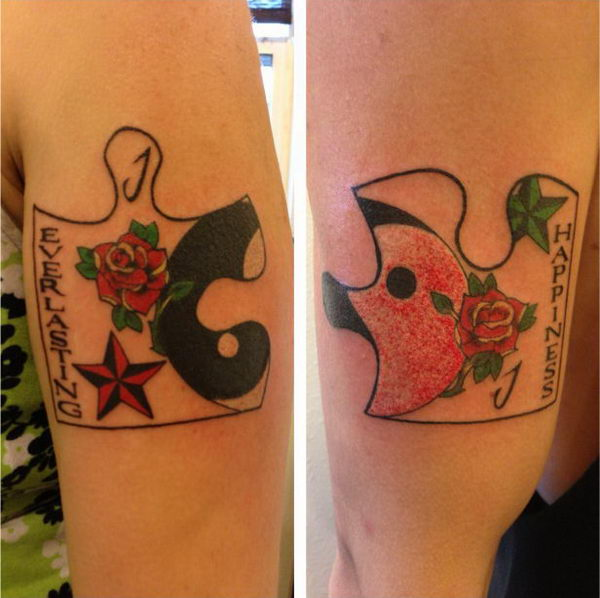 Pics Photos Heart Puzzle Piece Couples Tattoo