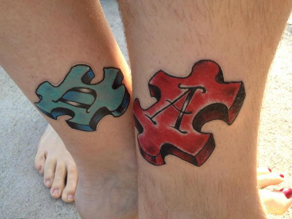 8 3d puzzle piece tattoo