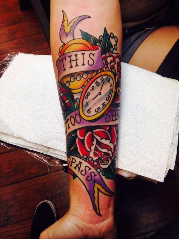 14 american traditional tattoo on arm