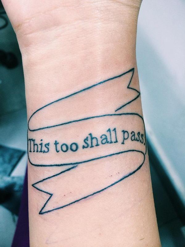 4 script wrist tattoo