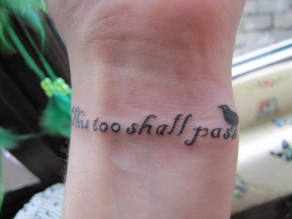 6 this too shall pass wrist tattoo