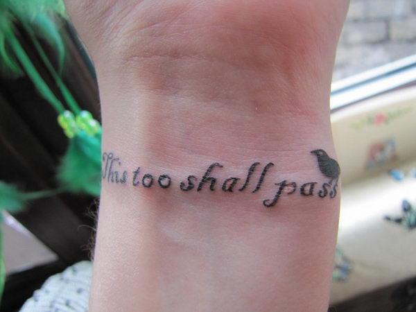 6 this too shall pass wrist tattoo