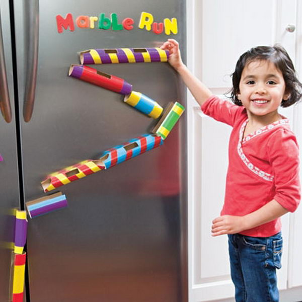 1 homemade marble run