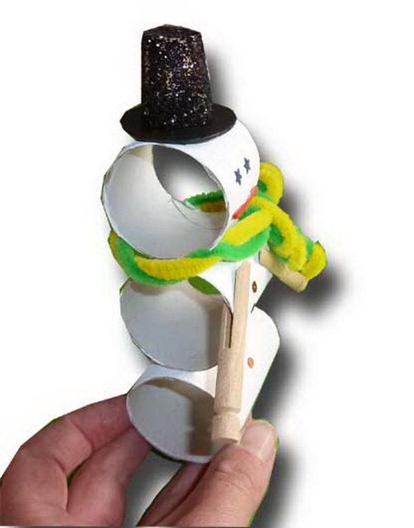 11 homemade snowman craft