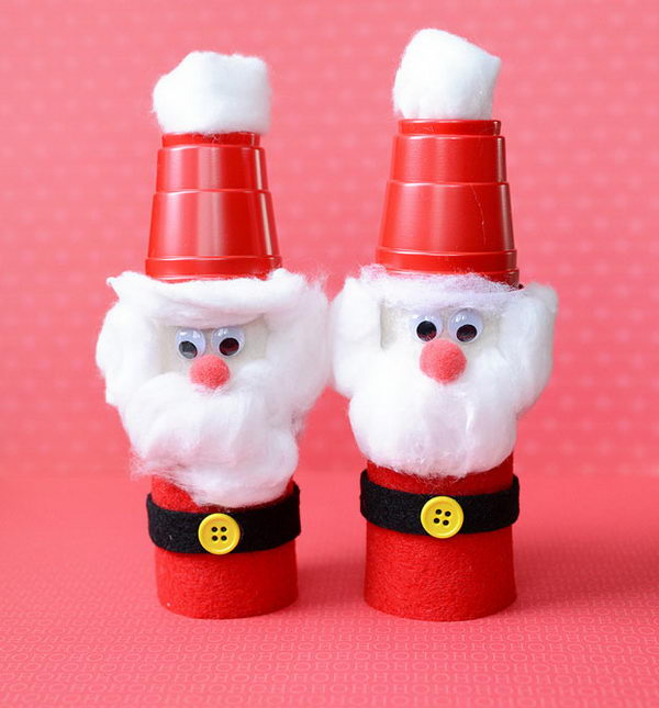 13 homemade santas craft