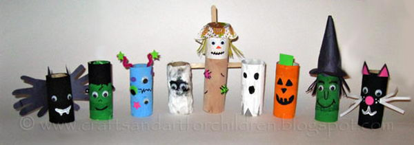 23 Toilet Paper Tube Halloween Crafts