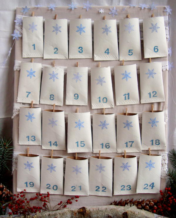 39 count down calendar http://hative.com/homemade-toilet-paper-roll-crafts/