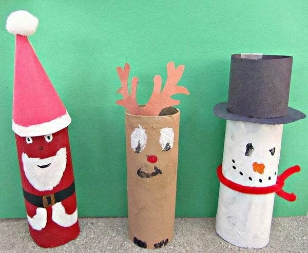 150 homemade toilet paper roll crafts hative - Decoration de noel en rouleau papier toilette ...