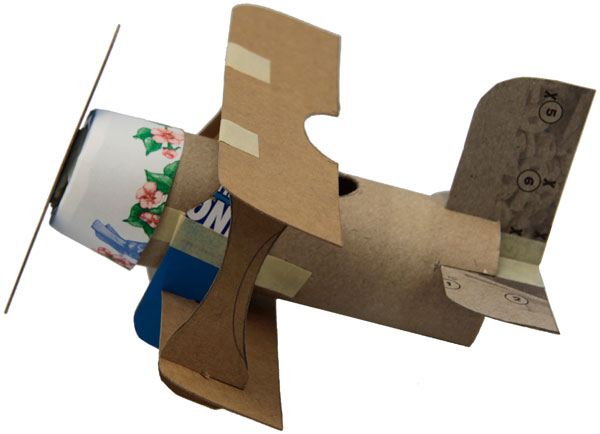 10 homemade airplane http://hative.com/homemade-transport-toilet-paper-roll-crafts/