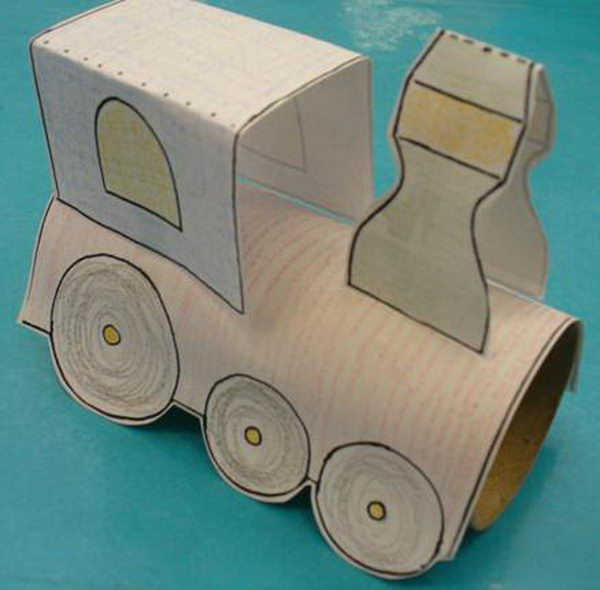 18 homemade train craft http://hative.com/homemade-transport-toilet-paper-roll-crafts/