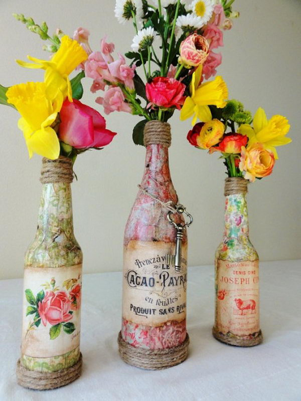 20+ Creative Wine Bottle Centerpieces.