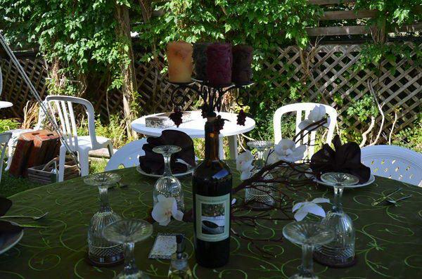 22 wine bottle candel holder