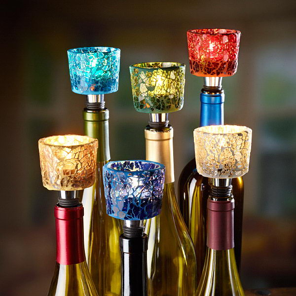 5 mosaic tealight holders