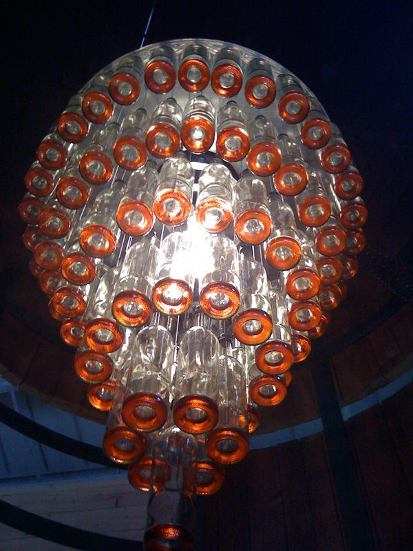 19 wine bottle chandelier