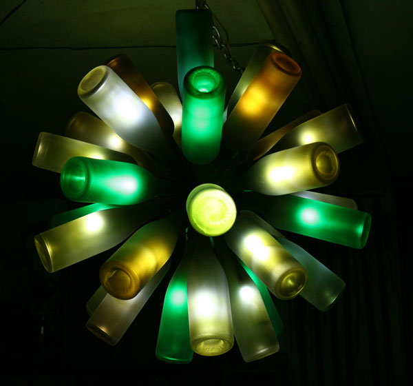22 wine bottle chandelier