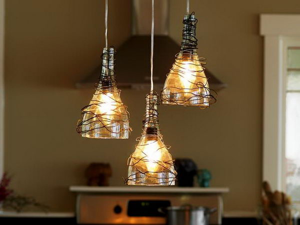 4 homemade kitchen chandeliers