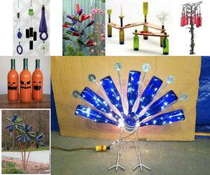 wine bottle crafts collage data pin