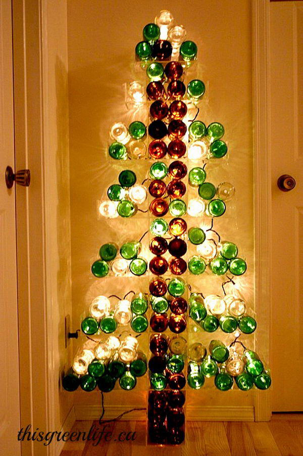 80 homemade wine bottle crafts hative for How to make a wine tree