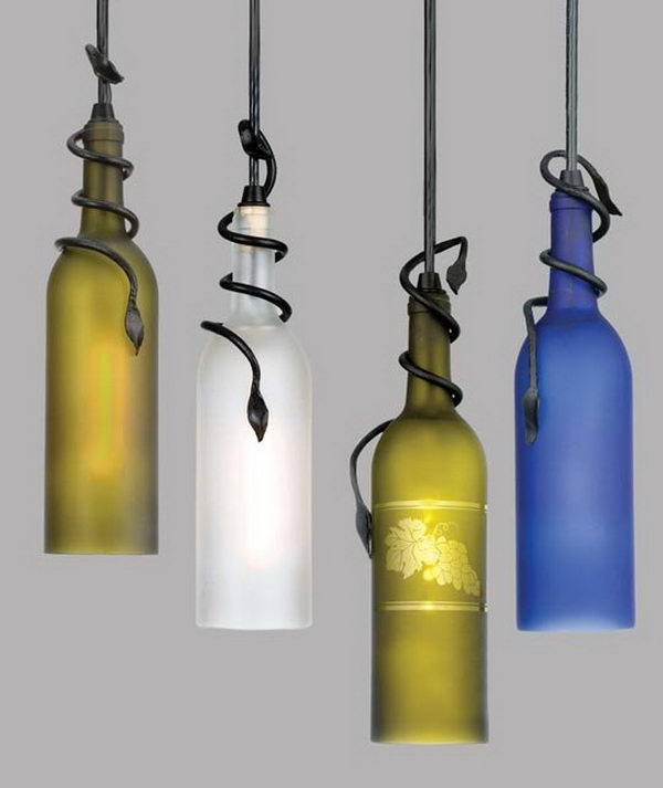 Wine Bottle Lamp.