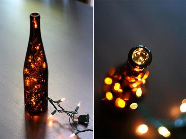 DIY Wine Bottle Light.