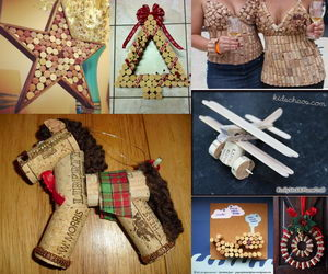 wine cork crafts collage
