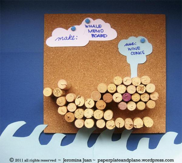 Whale Wine Cork Board.