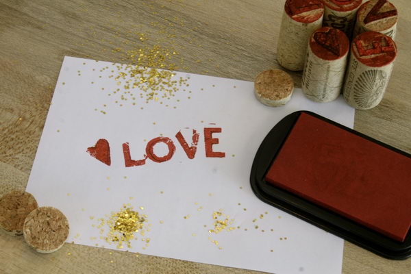 DIY Wine Cork Stamps.