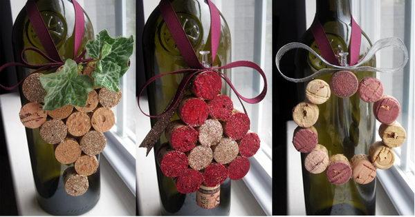 DIY Wine Cork Christmas Ornaments.
