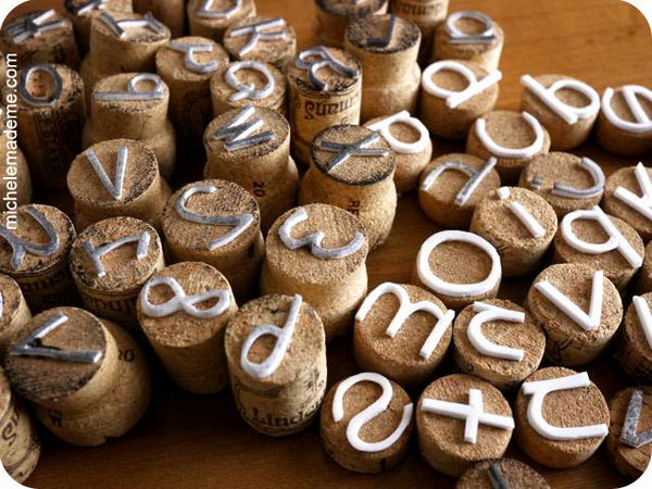 Making Wine Cork Letter Stamps. These cute stamps are pretty easy to make. They lend lots of personality to cards, gift wrap and artwork.