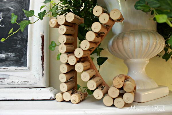 Monogram with Wine Corks.