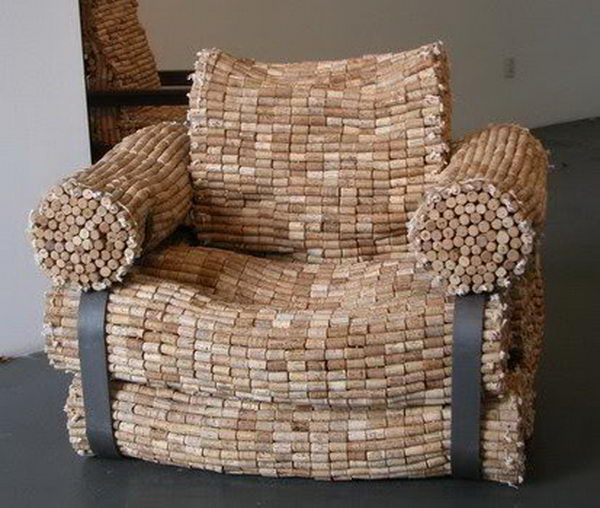 Wine Bottle Corks Armchair.