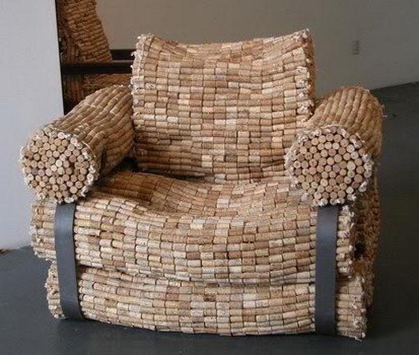 Wine Bottle Corks Armchair.