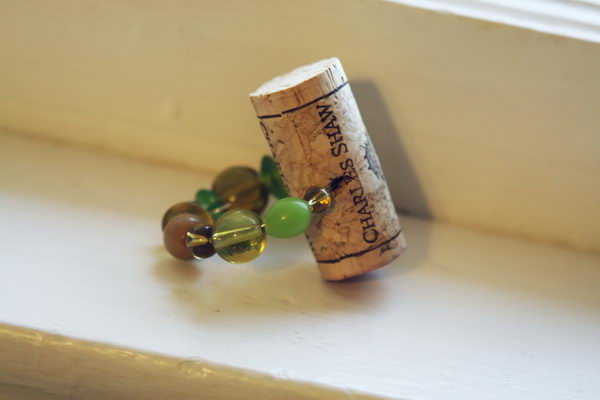 Wine Cork Napkin Ring.