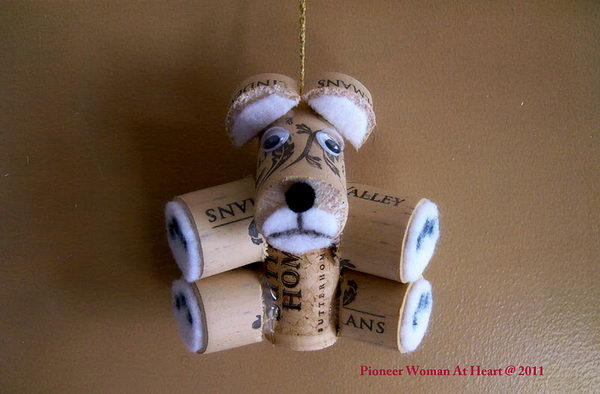 Teddy Bear Wine Cork Ornament.