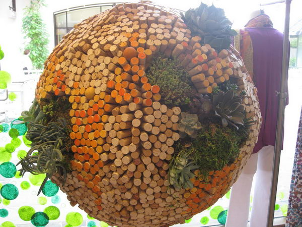 Ball Shaped Wine Cork Decor.