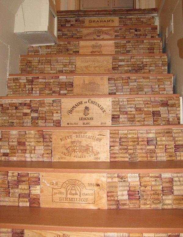 Wine Cork Stairs.