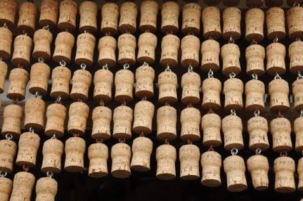 Homemade Wine Cork Curtain.
