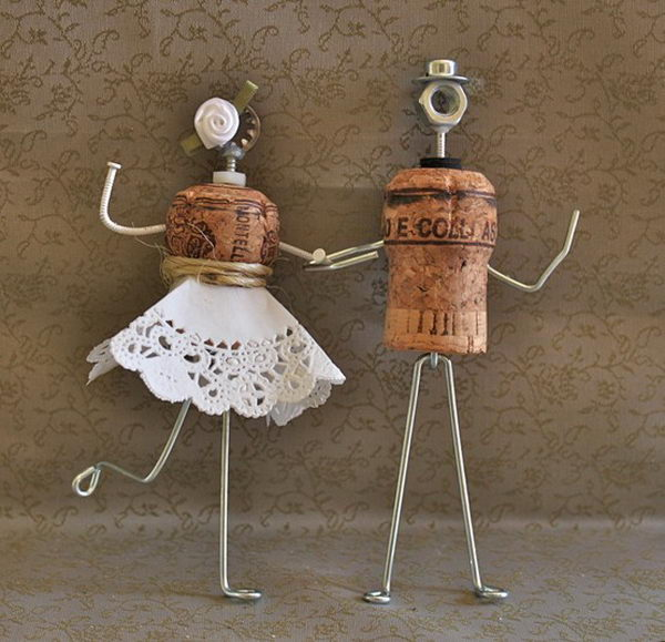 Groom and Bride Cake Topper.