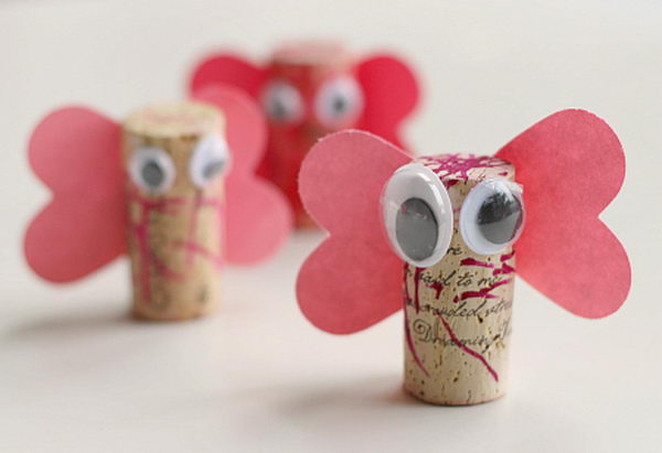 Wine Cork Love Bugs.
