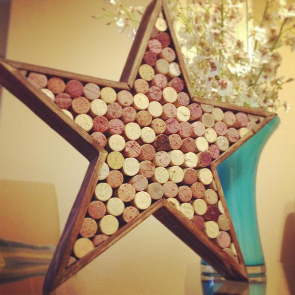 Star Shaped Wine Cork Decor.