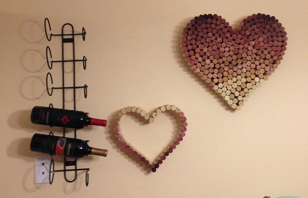 Heart Shaped Wine Cork Wall Art.