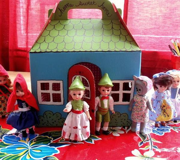 Cardboard Doll Carrier,