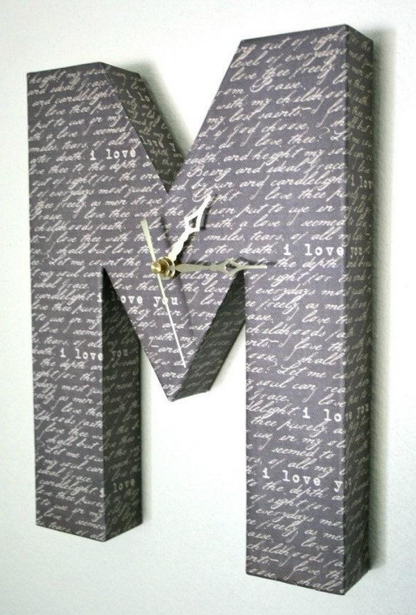 Letter M Wall Clock,