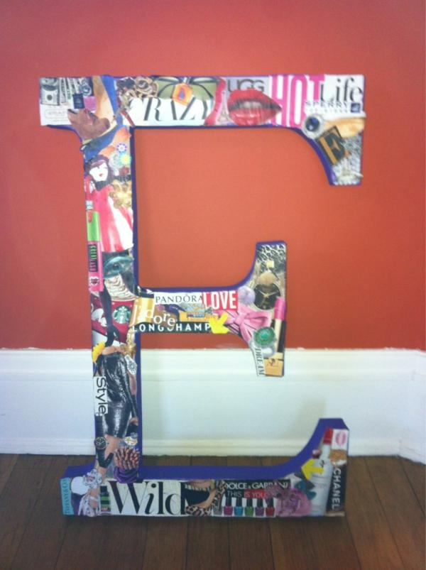 DIY Magazine Collaged Letter,